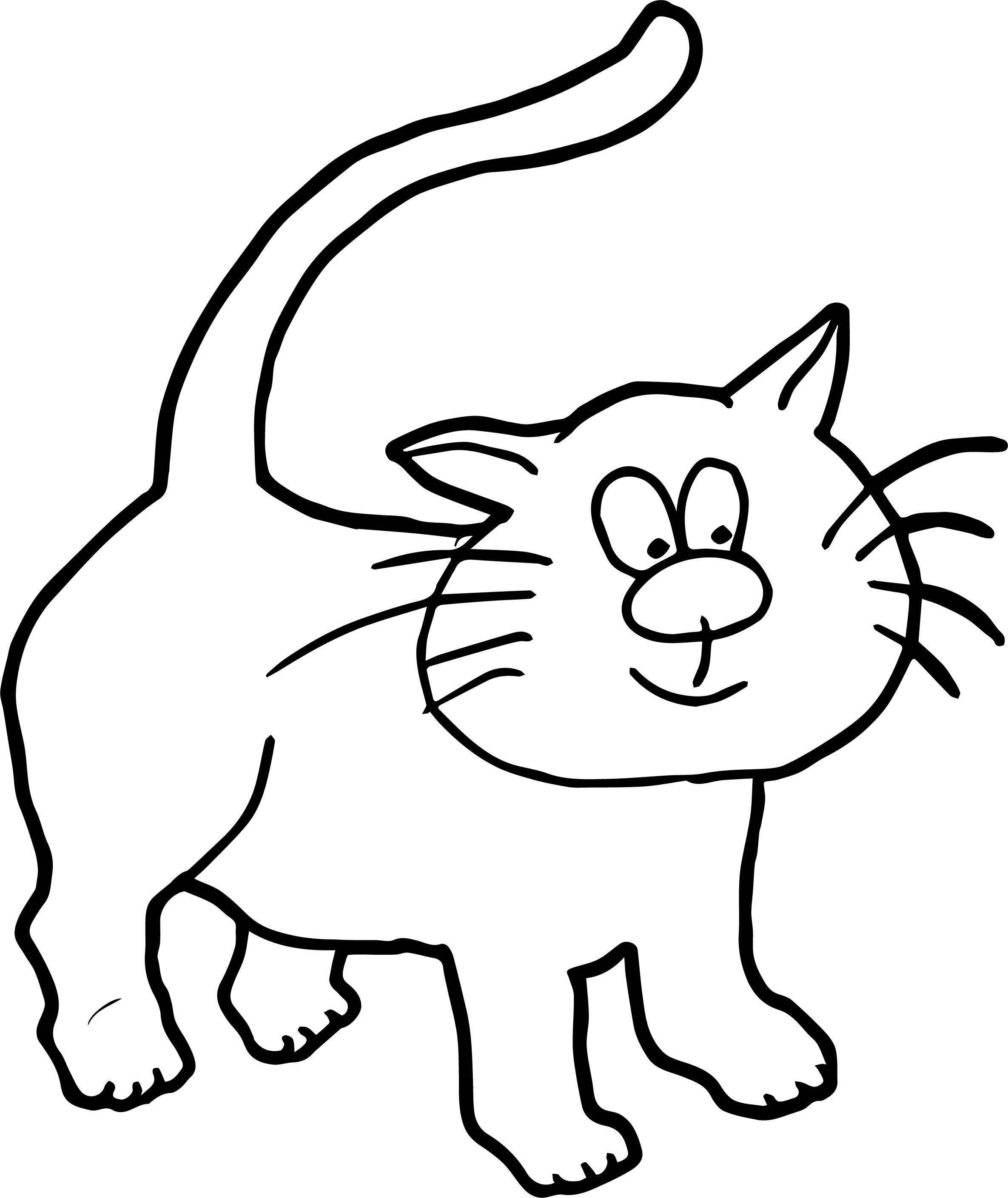 Keep Cat Coloring Page