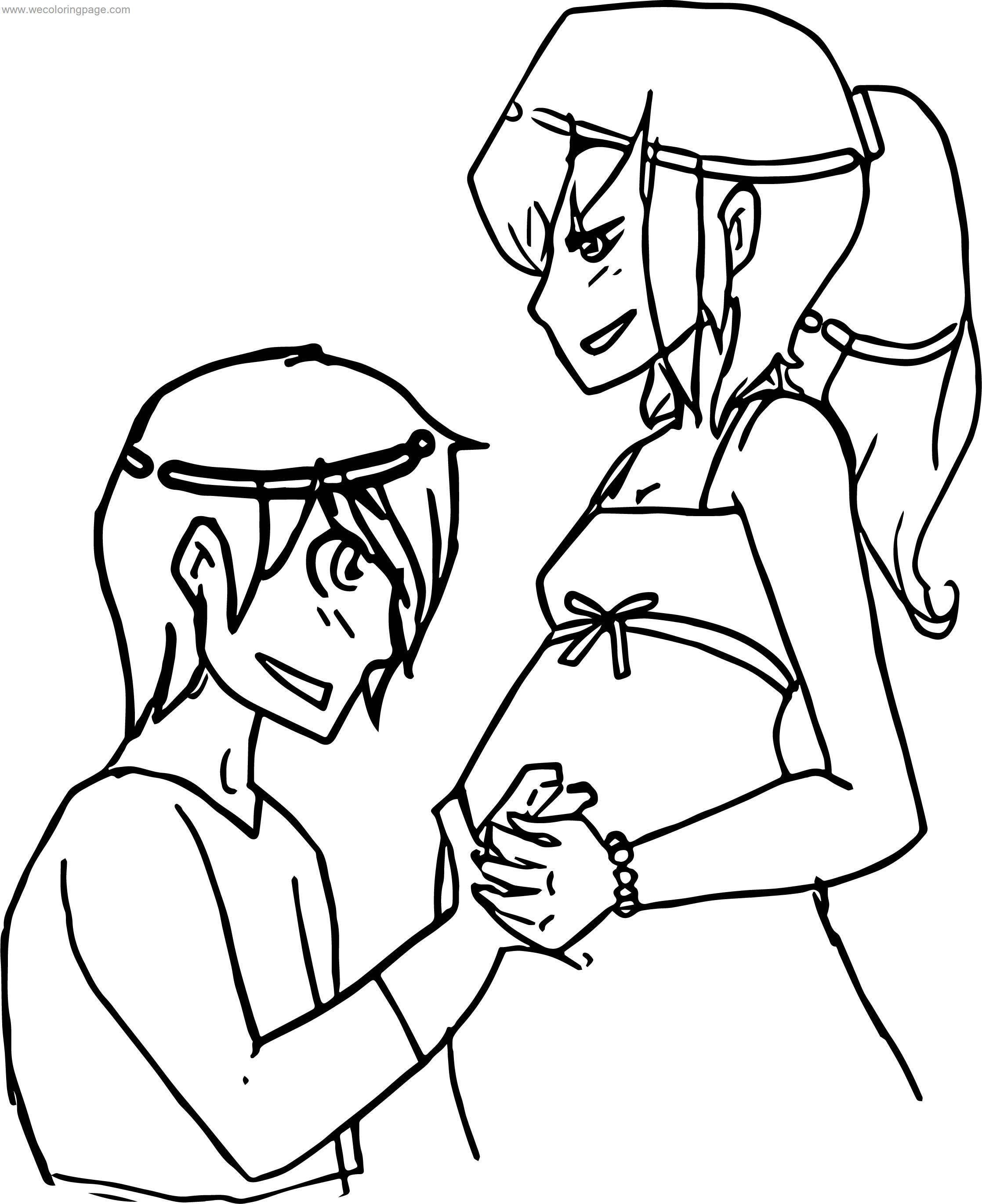 Kevin And Pregnant Gwen Benten Coloring Page