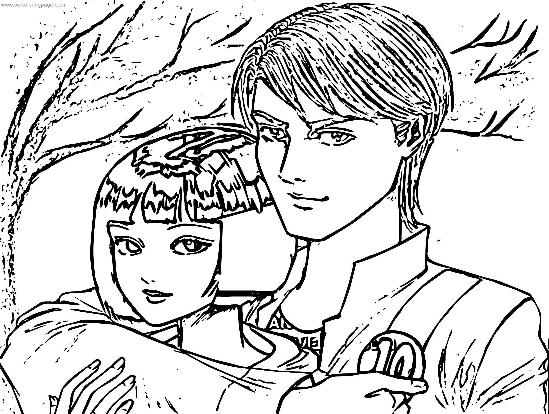 Kevin Gwen Sketch Benten Autumn Coloring Page
