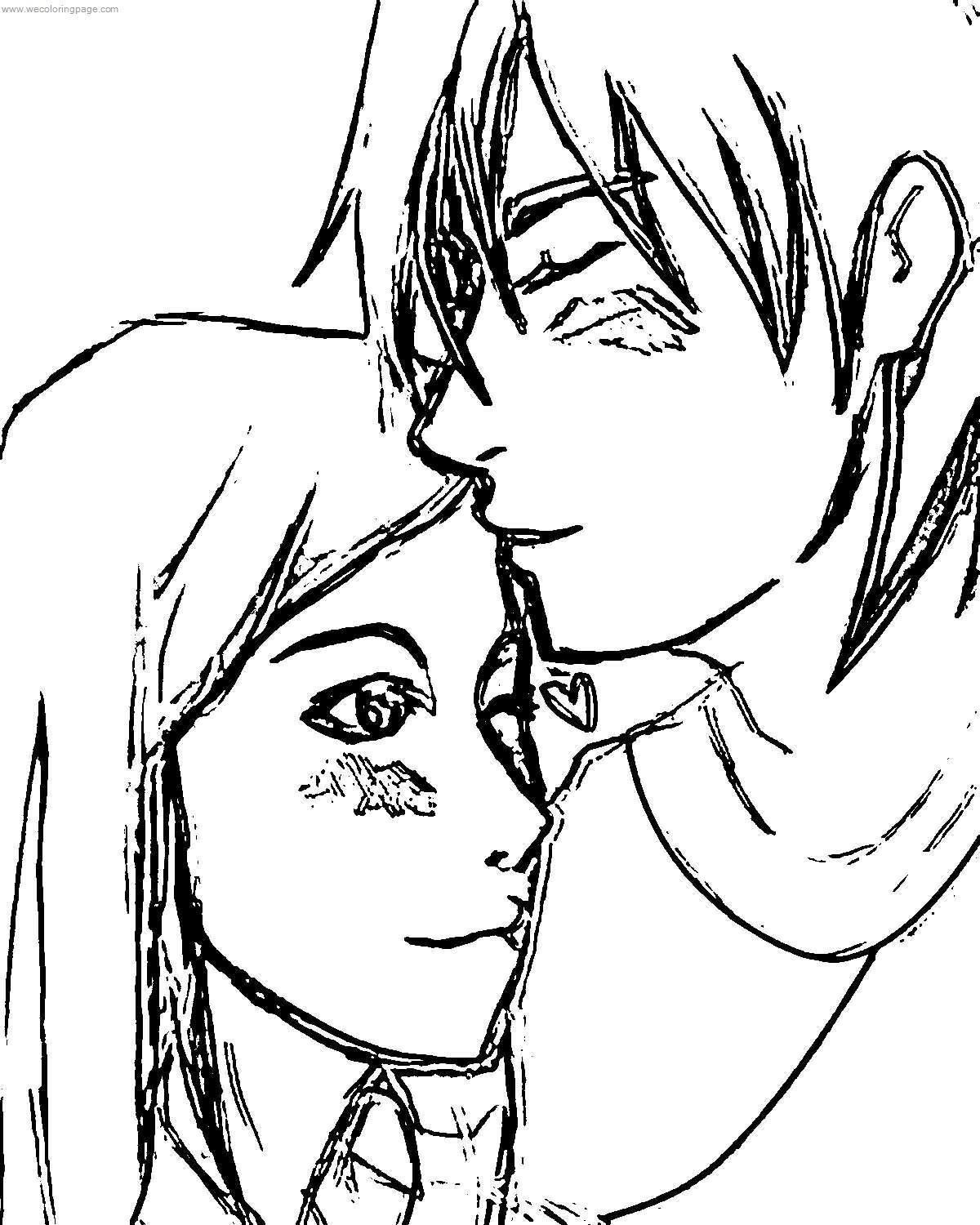 Kevin Gwen Together Benten Coloring Page