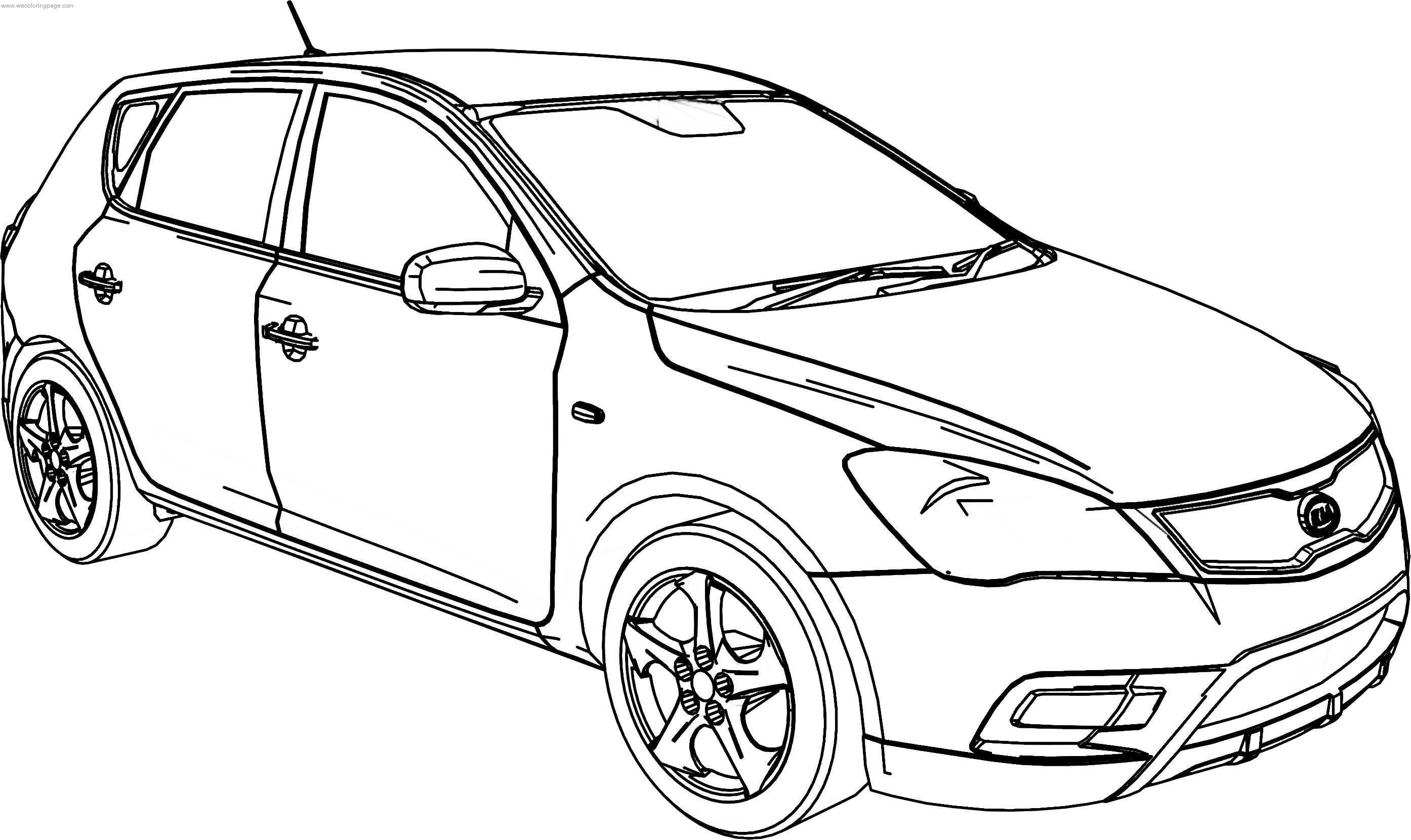 Kia Cee'd Resonably Priced Car Coloring Page