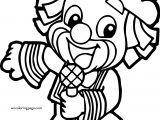 Kid Child Clown Song Time Coloring Page