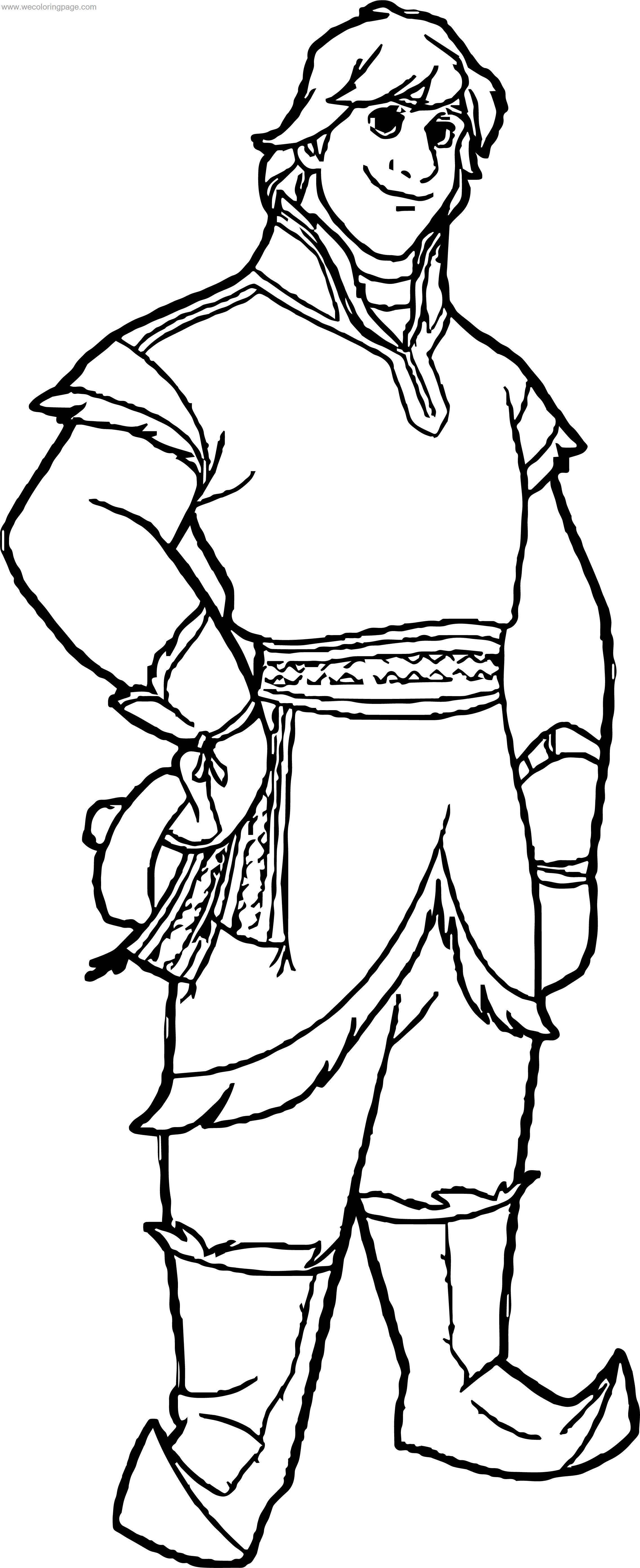 Kristoff Pose Coloring Page