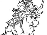 Kristoff Sven Anna Coloring Page