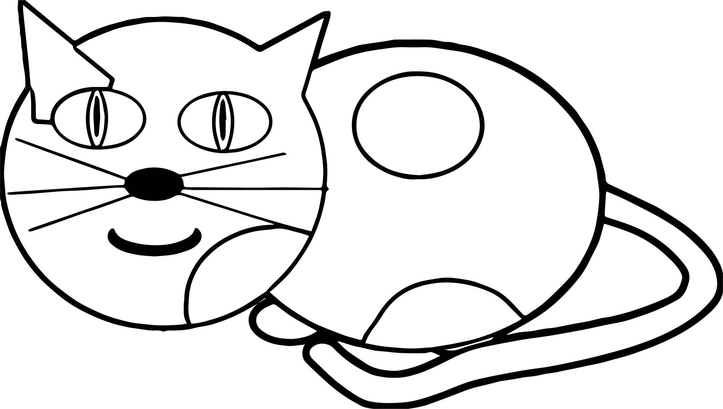 Learn Cat Coloring Page