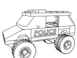 Lego City Police Suv Coloring Page