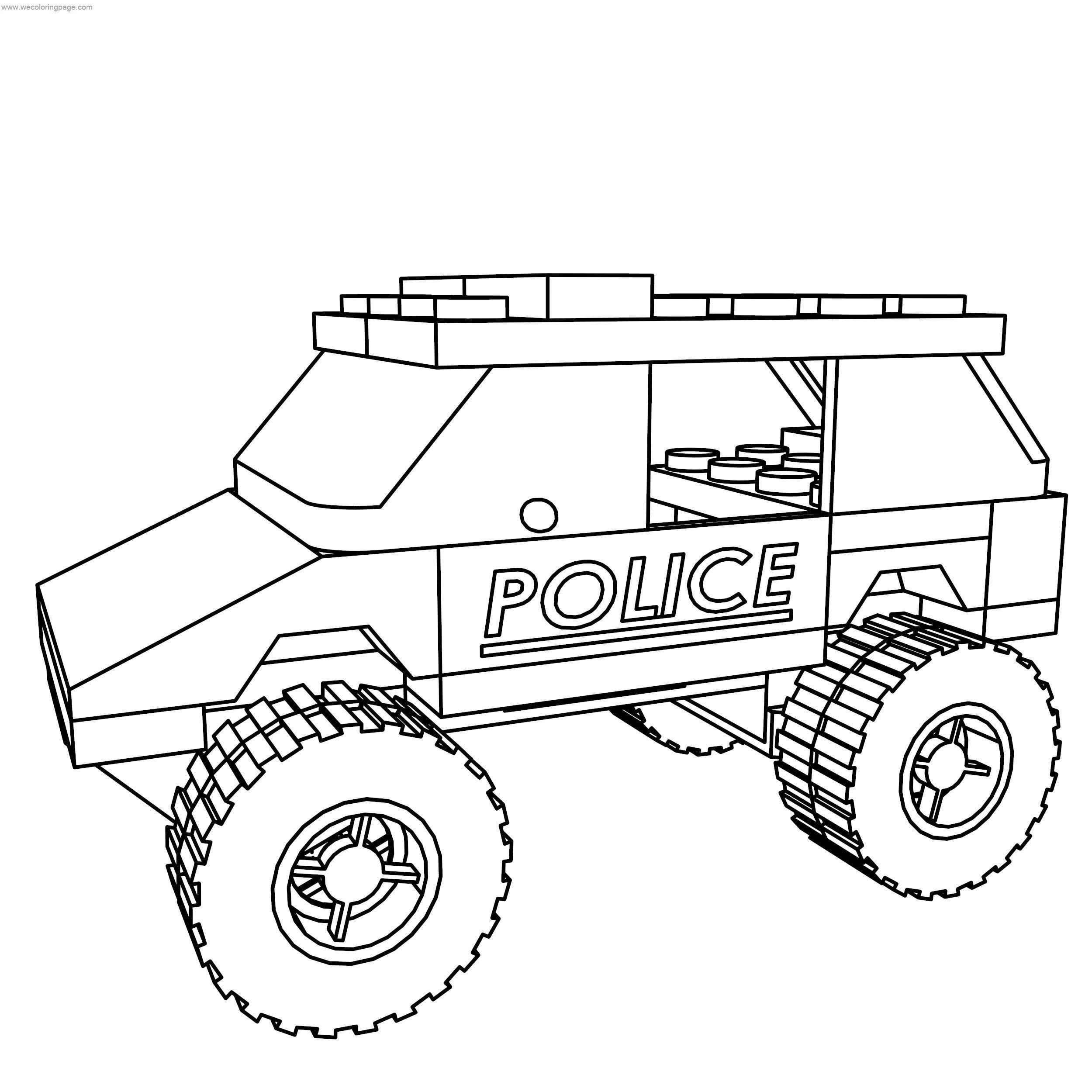 Lego City Police Suv Coloring Page