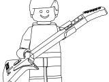 Lego Guitar Hero Coloring Page
