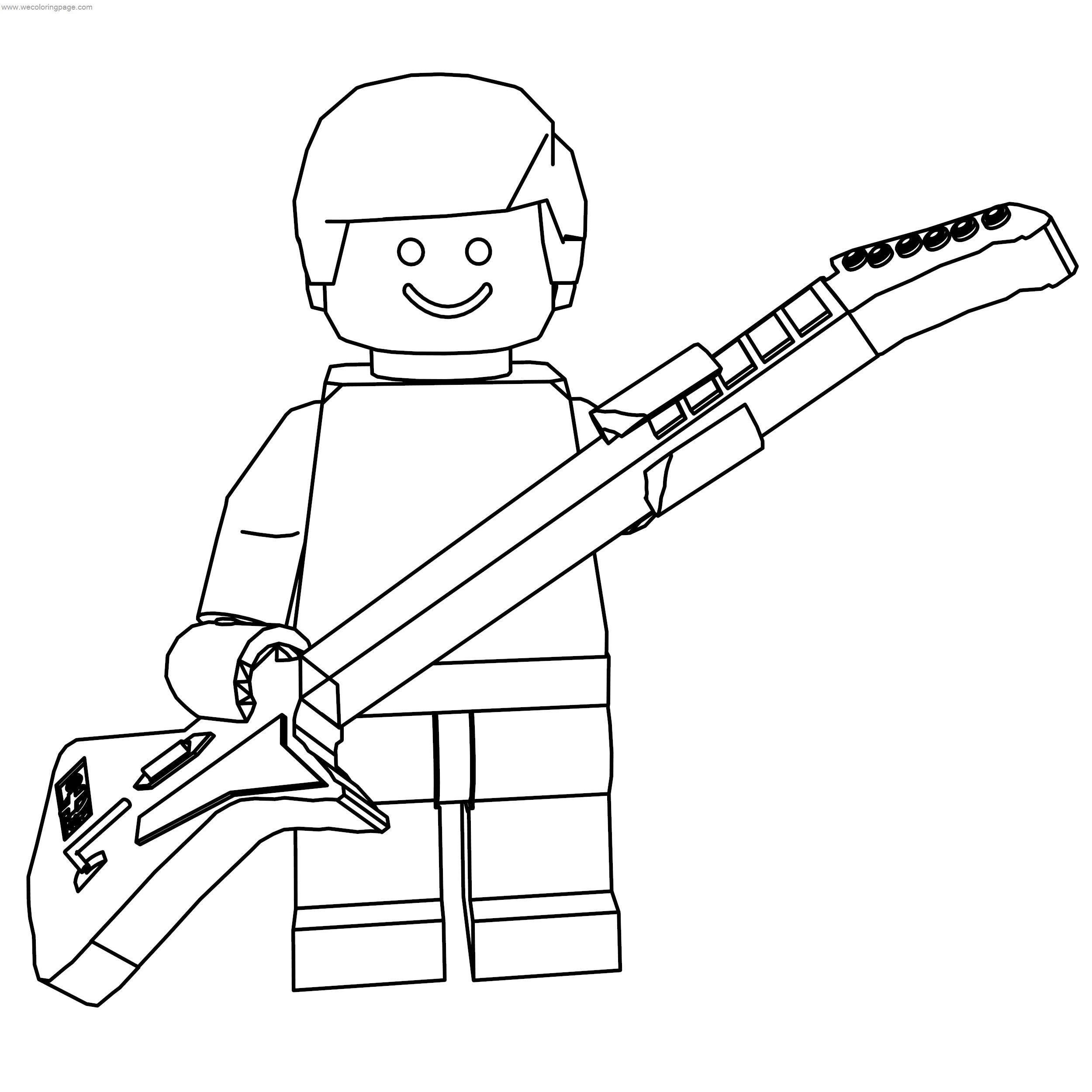 Lego Guitar Hero Coloring Page