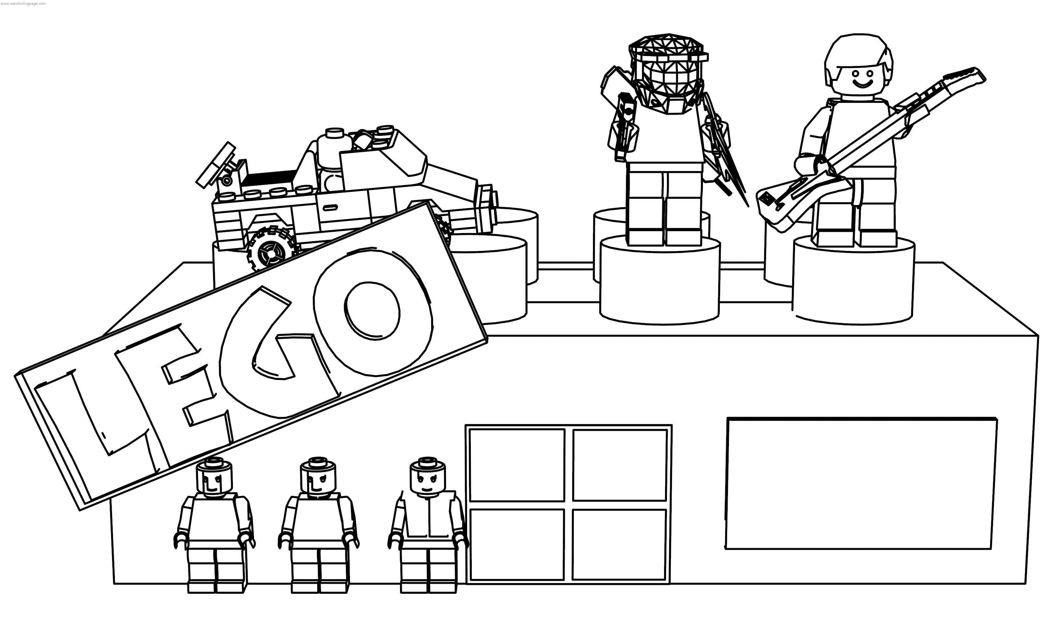 Lego Store Coloring Page