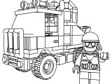 Lego System 6670 Rescue Truck And Drive Coloring Page