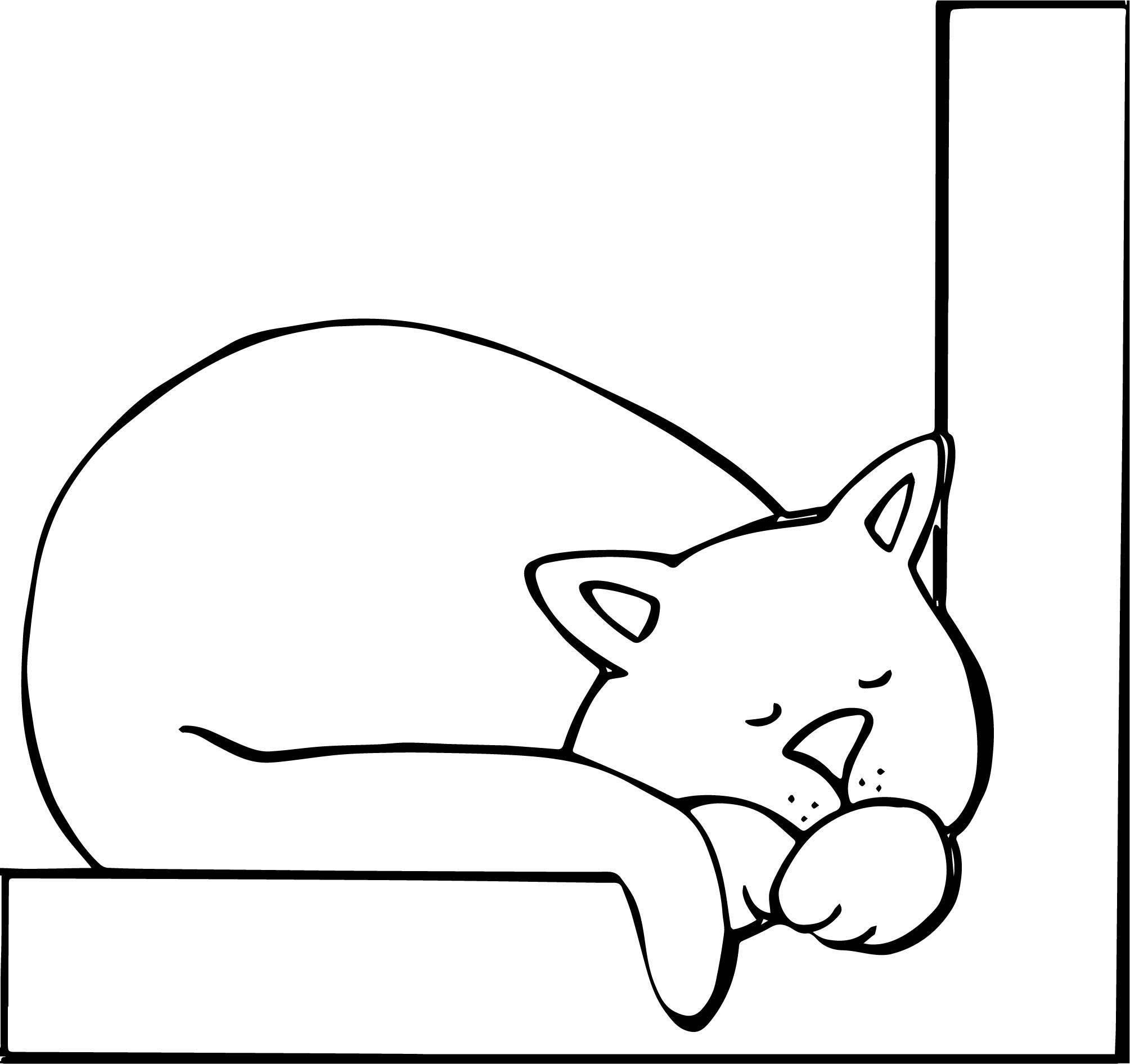 Light Cat Coloring Page