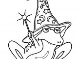 Magical Frog Coloring Page