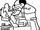 Man Dentist Doctor Teeth Dental Coloring Page