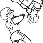 Man Turn Man Circus Coloring Page
