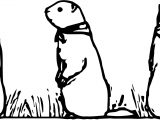 Marmot Character Coloring Page
