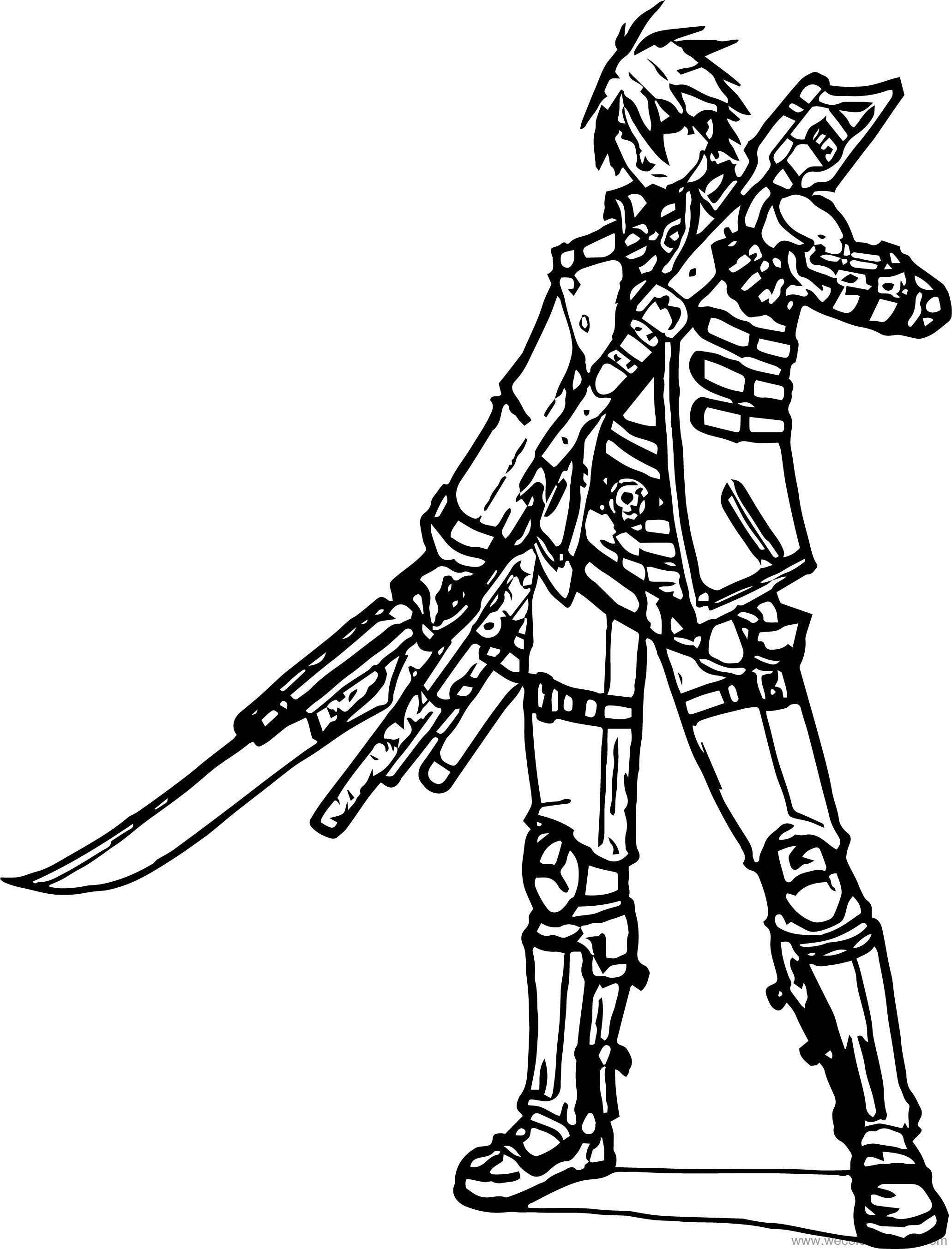 Milkjunkie Ziel Frobisher Character Design Coloring Page