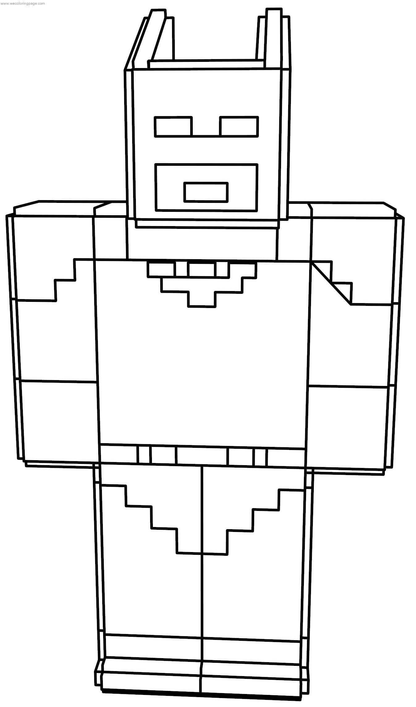 Minecraft Batman Lego Coloring