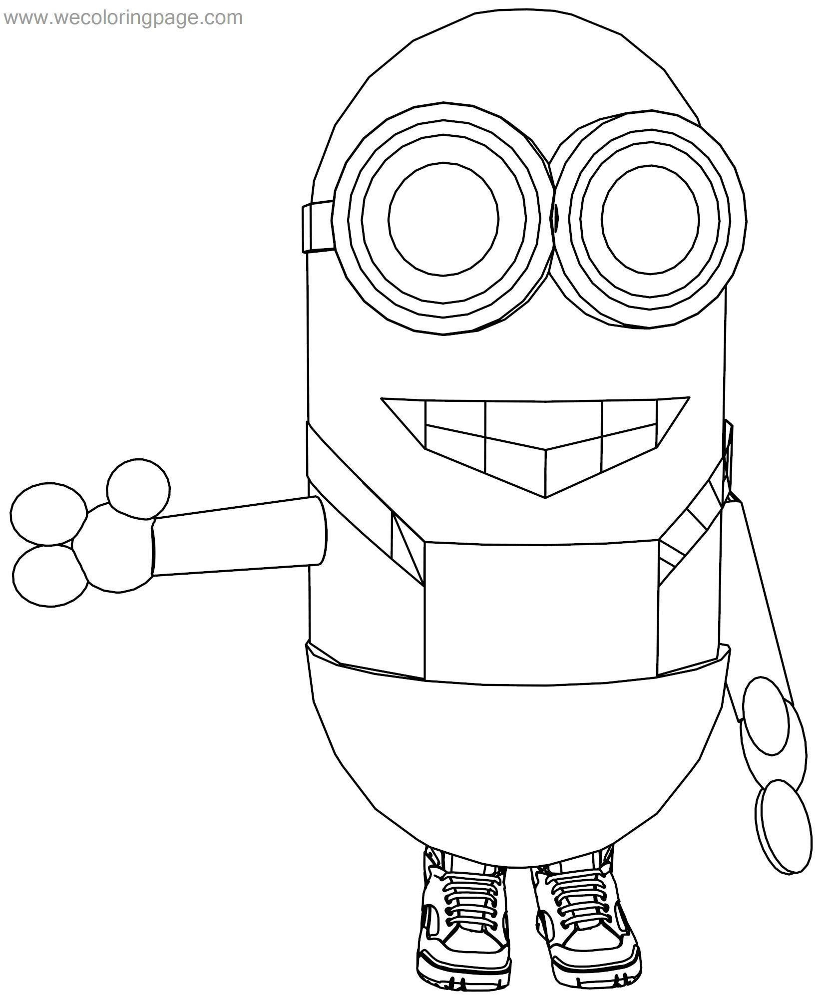 Minion Hi Coloring Page