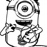 Minion Playing Holding Basketball Coloring Page
