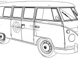 Minion Vw Camper Van Bus Coloring Page