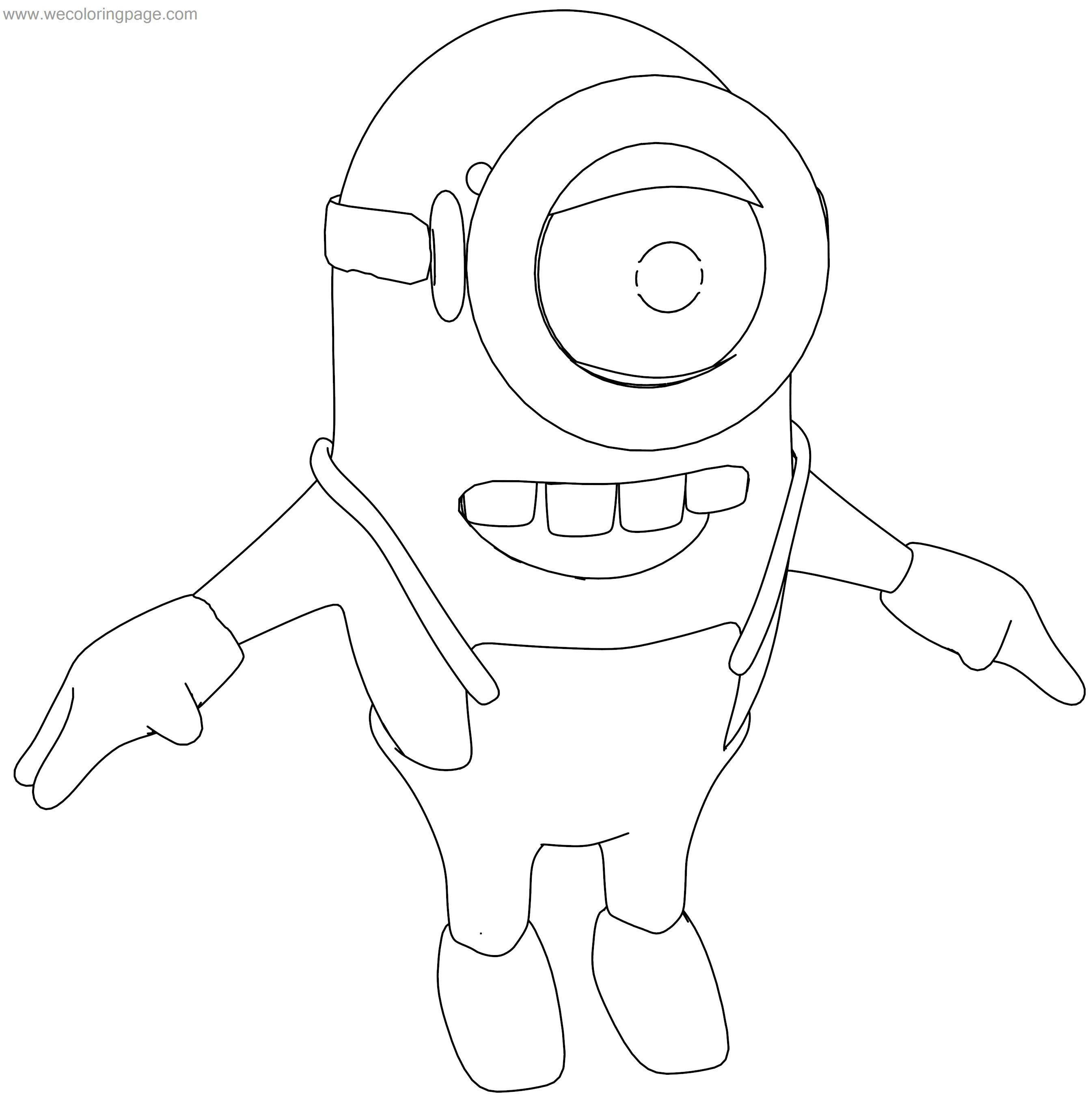 Minions Big Teeth Coloring Page