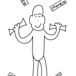 Money Man Coloring Page