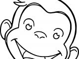 Monkey Face Images Coloring Page