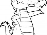 Move Crocodile Alligator Coloring Page