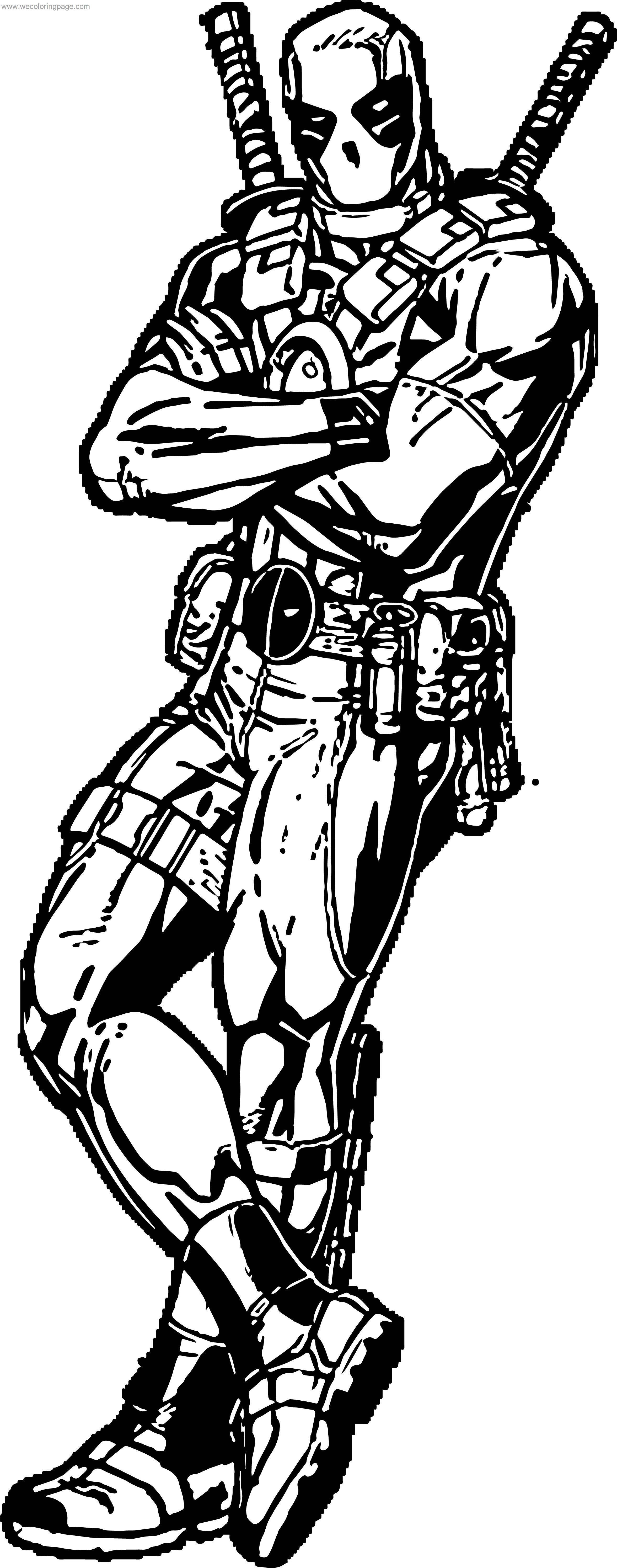 Move Deadpol Coloring Page