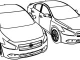 Nissan Twilight Hybrid Car Coloring Page