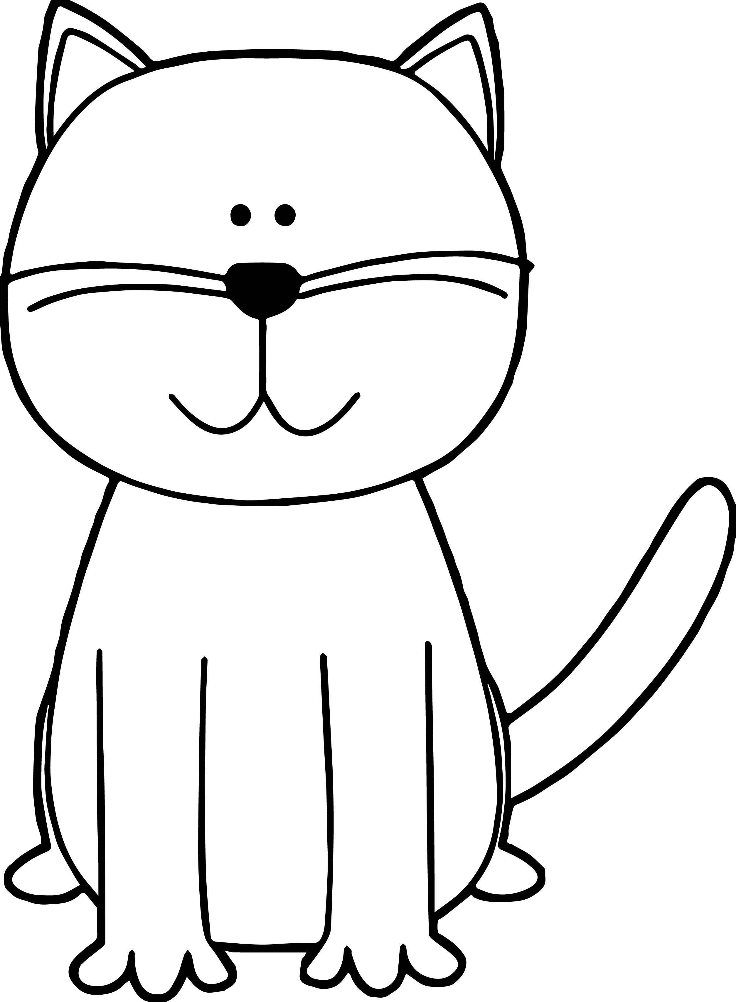 No Cat Coloring Page