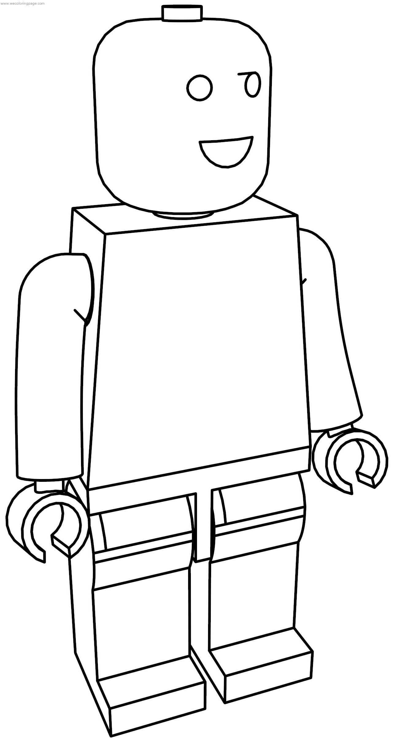 Normal Lego Man Coloring Page | Wecoloringpage.com