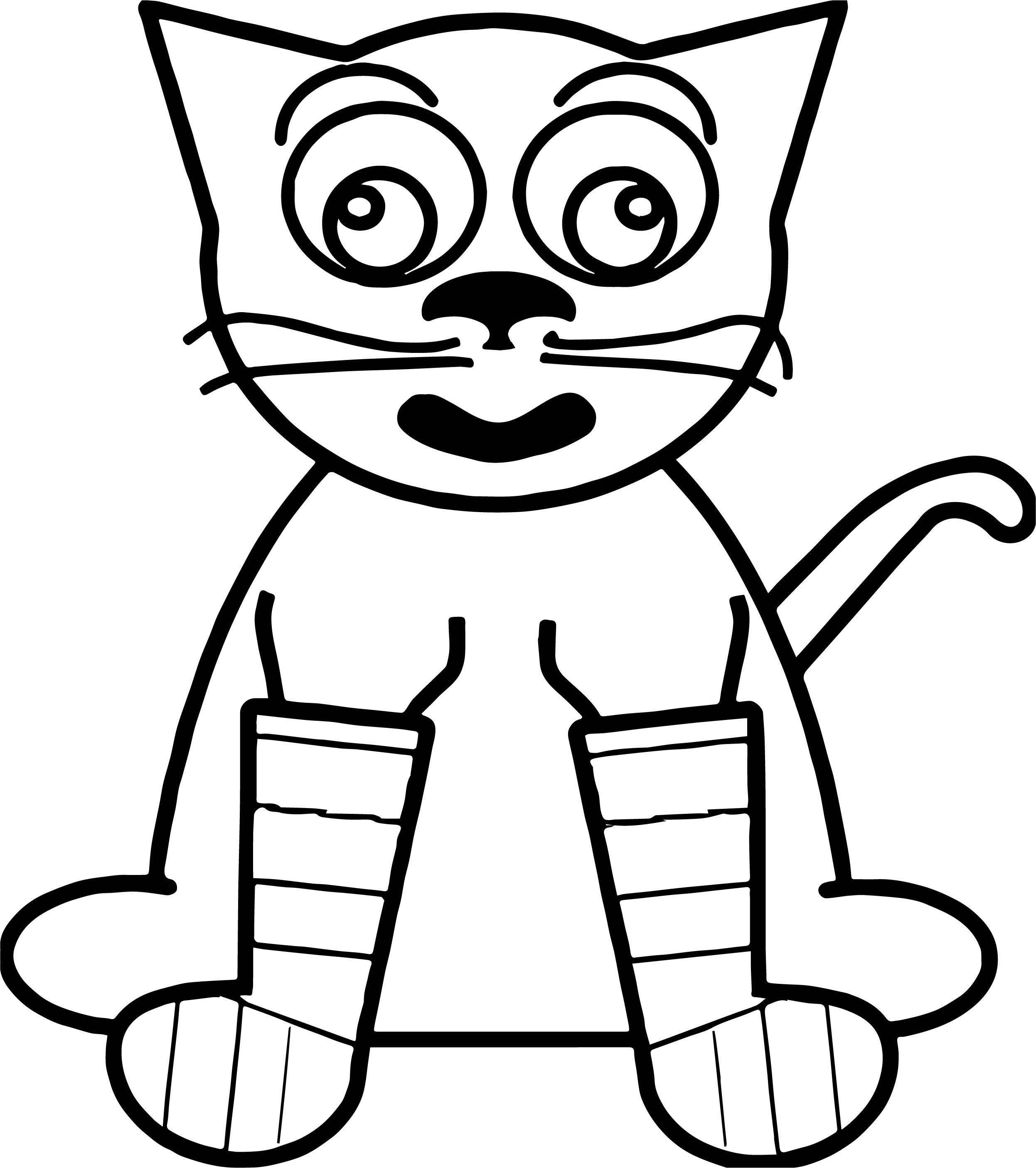 Off Cat Coloring Page