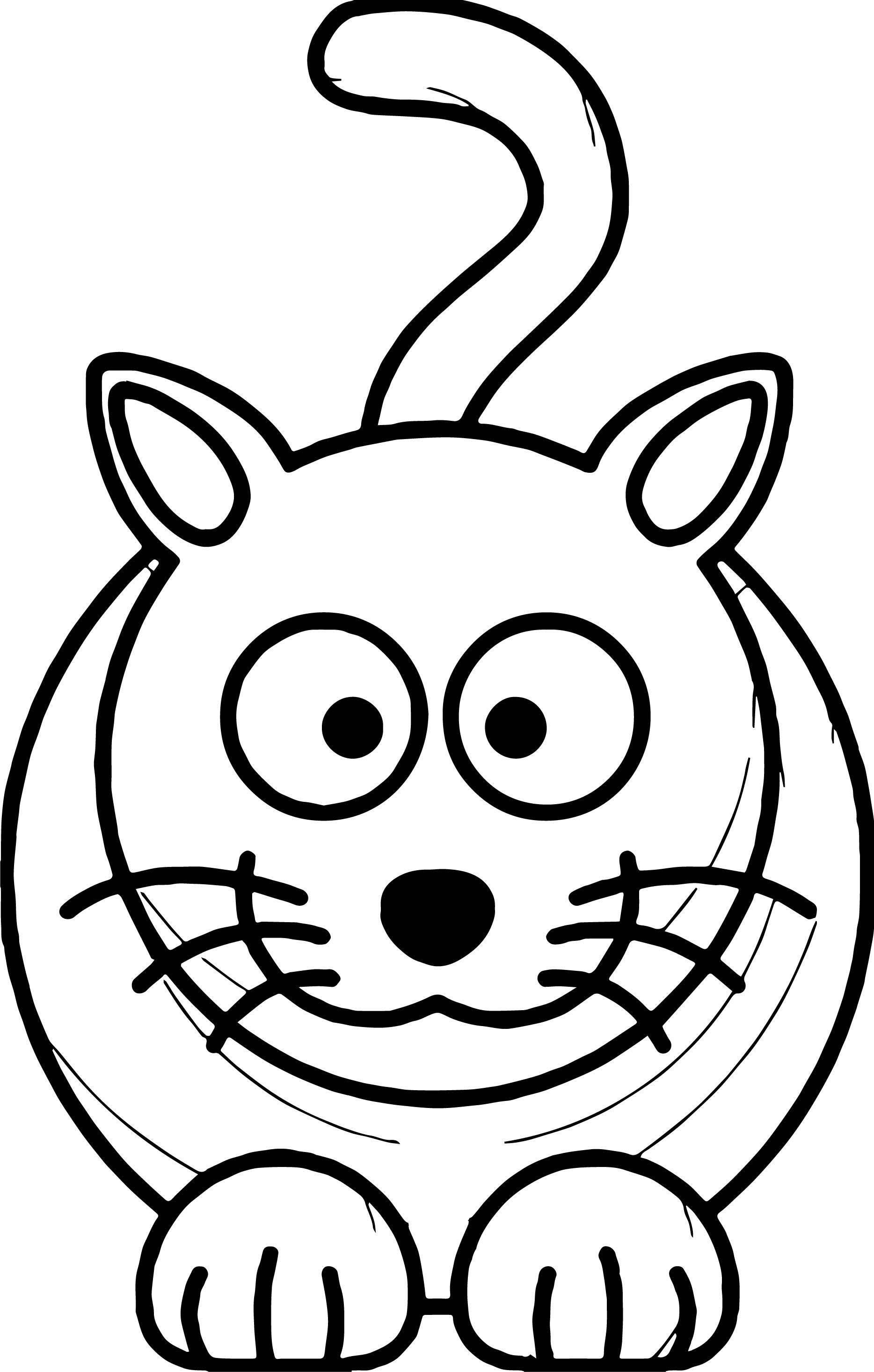 Old Cat Coloring Page