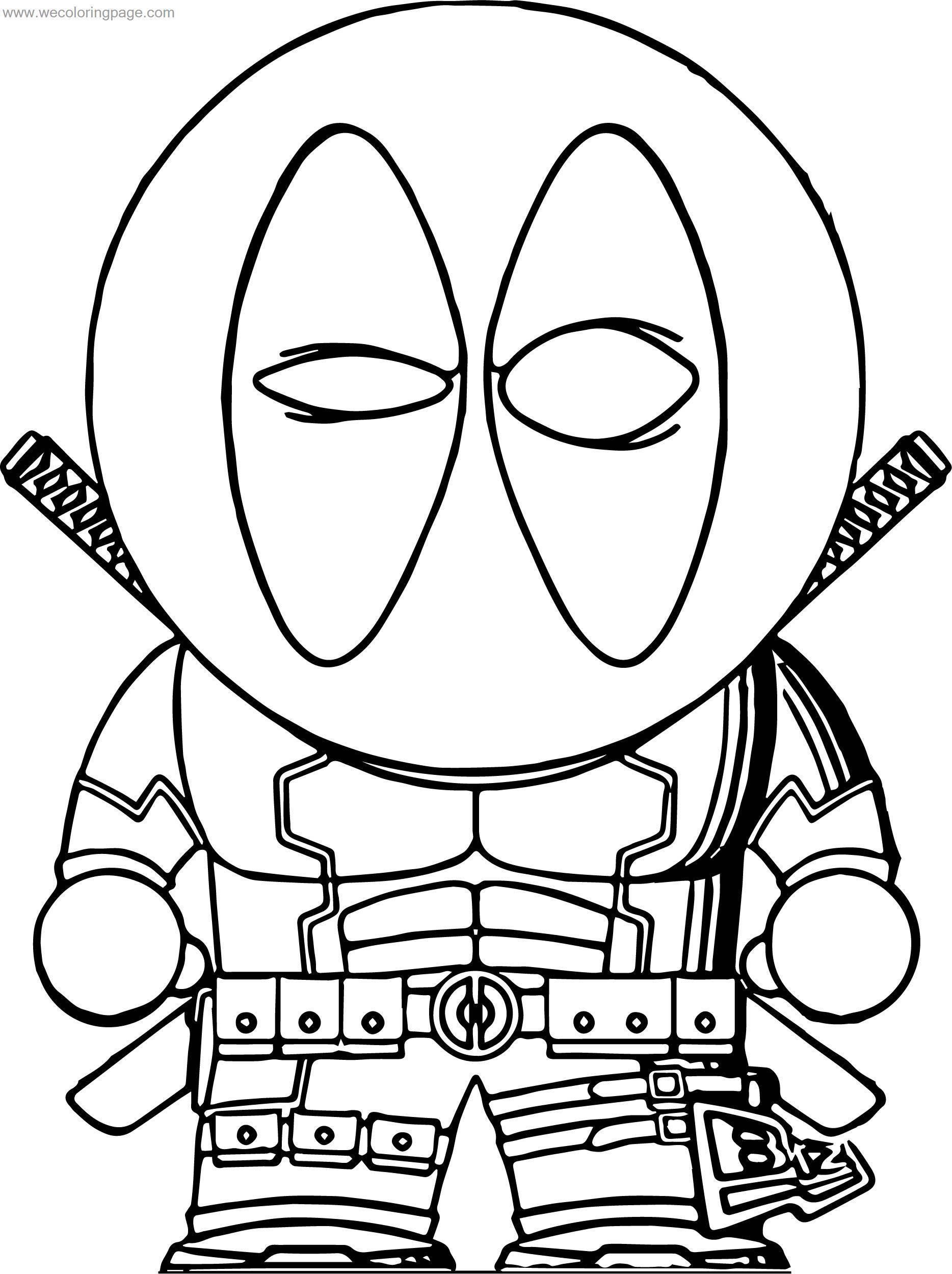 Old Deadpol Coloring Page