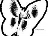 One Butterfly Pixel Coloring Page