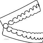 Open Teeth Dental Coloring Page
