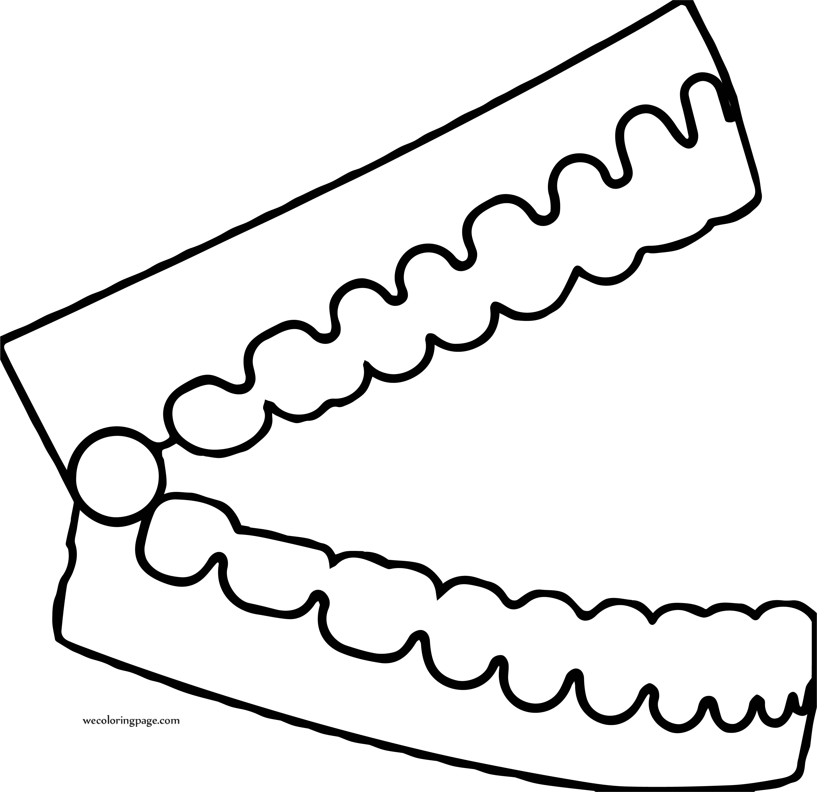 Open Teeth Dental Coloring Page
