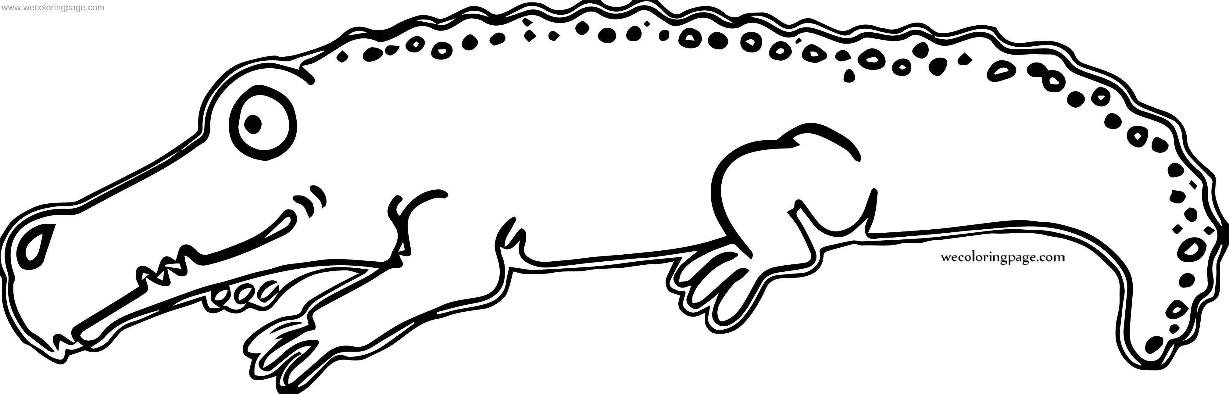 Out Crocodile Alligator Coloring Page