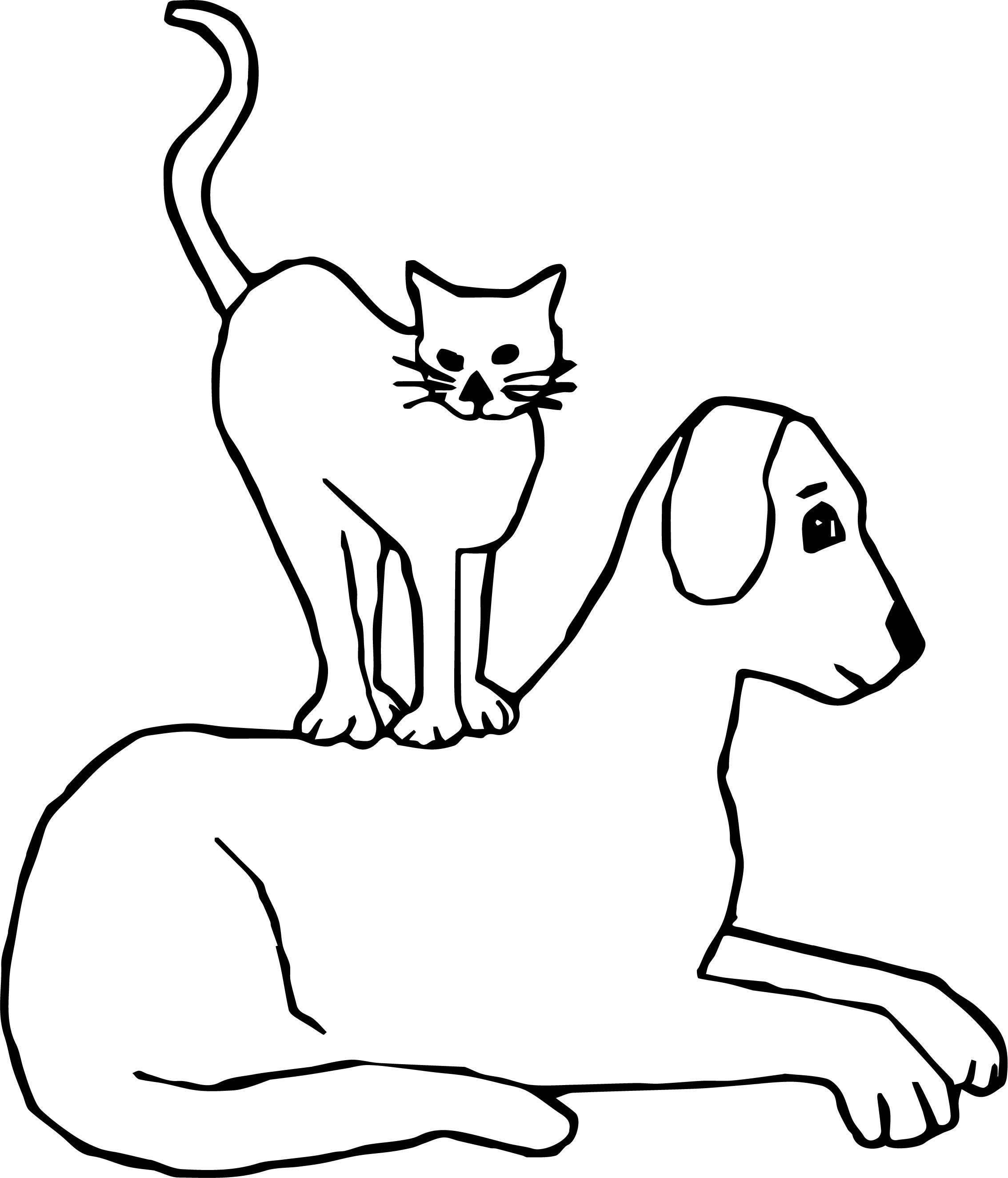 Over Cat Coloring Page
