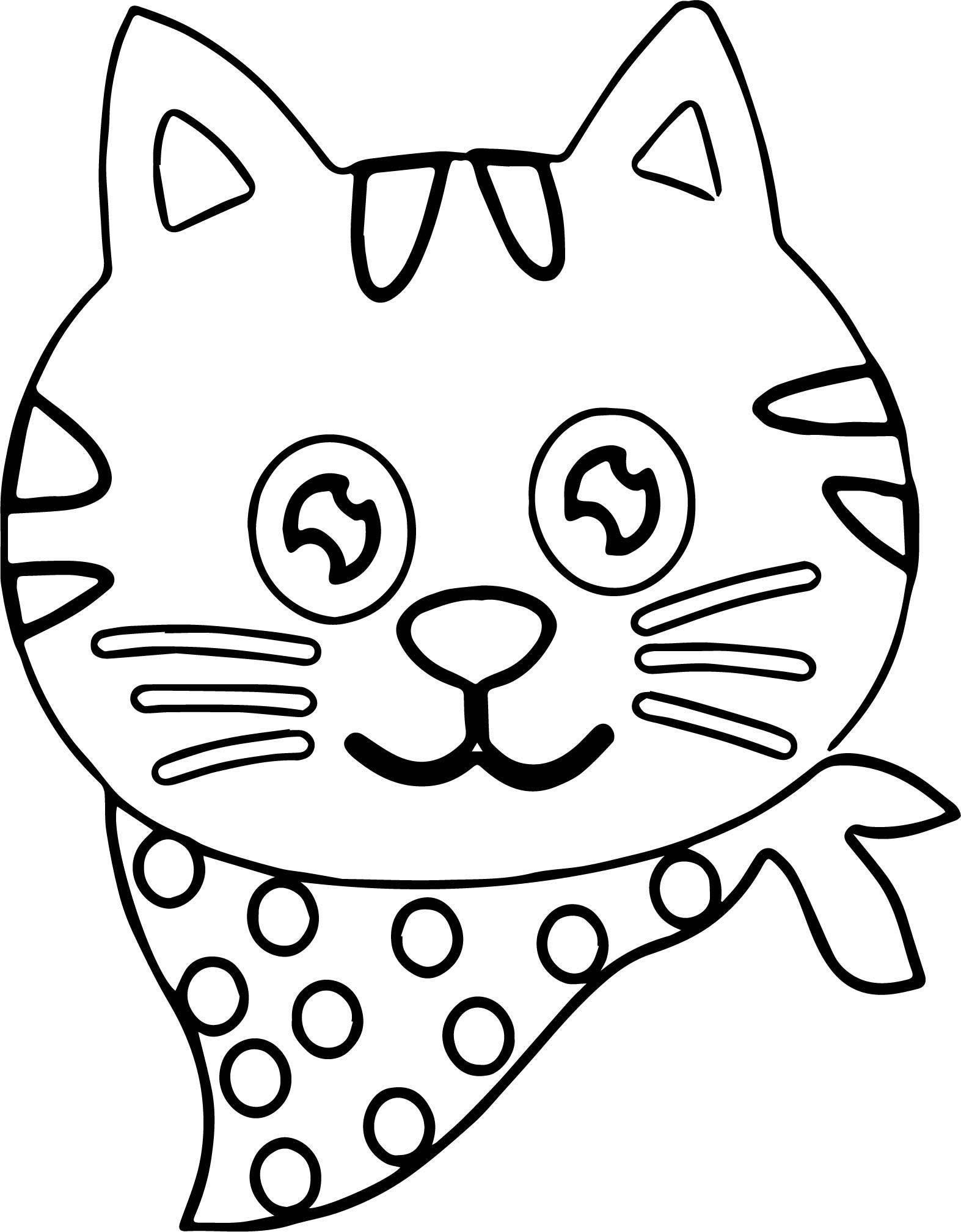 People Cat Coloring Page