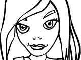 People Faces Girl Clip Art Coloring Page