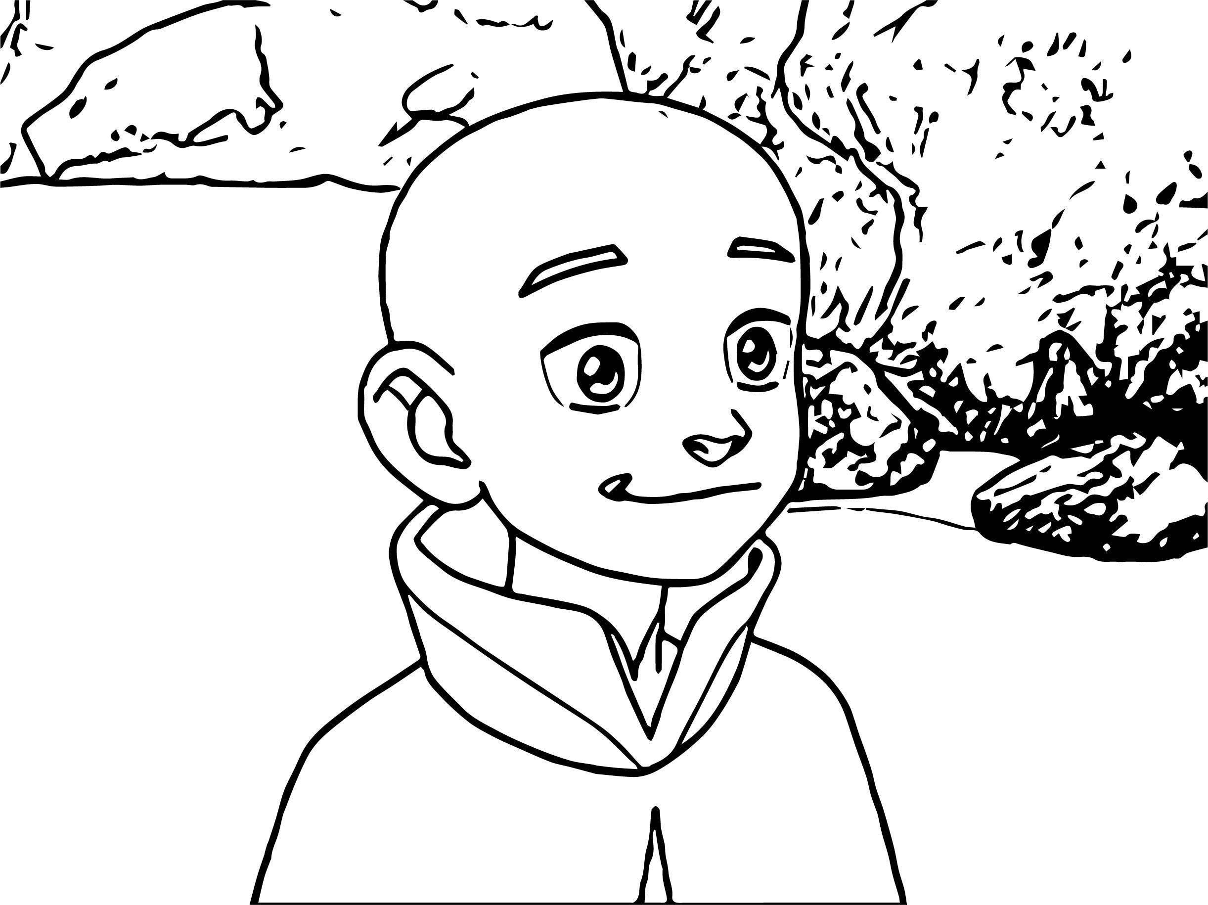 Pilot Aang Avatar Aang Coloring Page