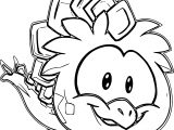 Pink Stegosaurus Puffle Coloring Page