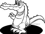 Play Crocodile Alligator Coloring Page