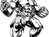 Power Hulk Avengers Coloring Page