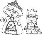 Princess Dora And Prince Boots Dora The Explorer Coloring Page