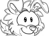 Puffle 2014 Transformation Player Card Blue Border Collie Coloring Page