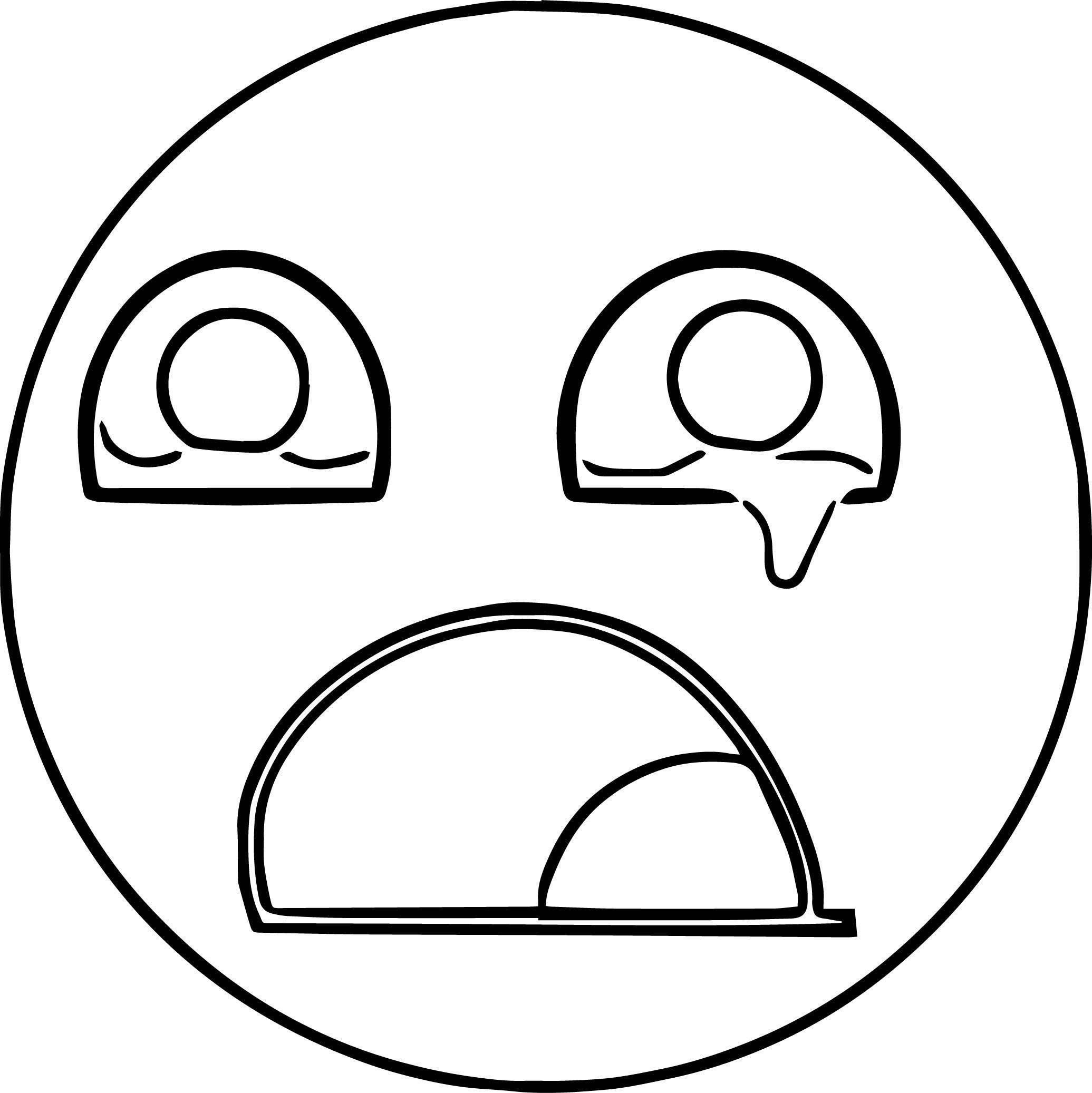 Purple Sad Face Cow Cry Emology Coloring Page